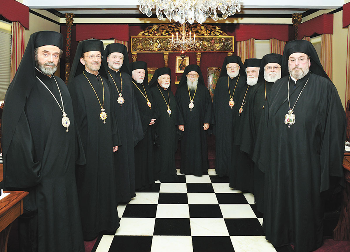 The Holy Eparchial Synod in session at the Archdiocese